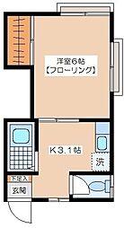 田中荘[A−1号室]の間取り