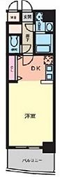 セレッソコート上本町EAST (G1タイプ)[7階]の間取り