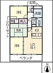 グランドヒルズ神ノ倉[2階]の間取り