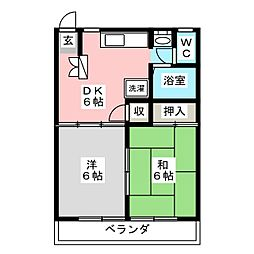 メゾン ソフィア[2階]の間取り