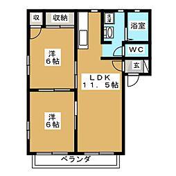 ドミールカネサカ[2階]の間取り