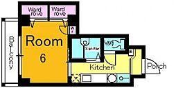 サニーハウス[503号室号室]の間取り
