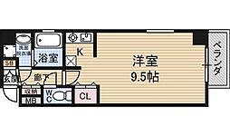 キャピトル新大阪[4階]の間取り