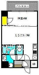 ブエナビスタ江坂広芝町 4階1LDKの間取り