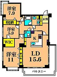 Stella Suite Ooi 1階3LDKの間取り
