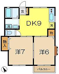 フォレストビュー[2階]の間取り