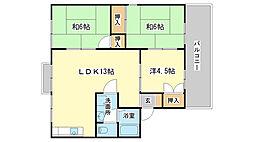 セジュール北八代 A棟[A101号室]の間取り