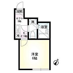 RA・湘南 1階1Kの間取り