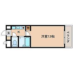 奈良県奈良市西大寺小坊町の賃貸マンションの間取り