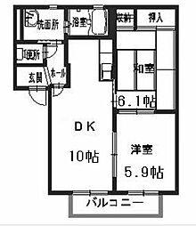 シャーメゾン 堅田B[B102号室]の間取り