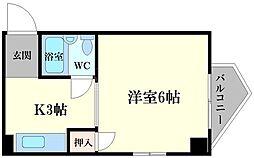 都島GALAXY[4階]の間取り