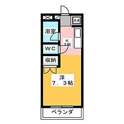 サンシャイン長岡弐番館[2階]の間取り
