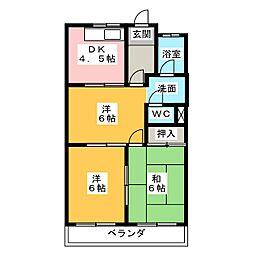 ロイヤルガーデンK[3階]の間取り