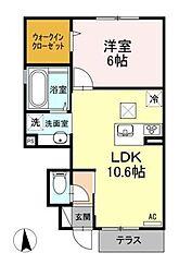 (仮)D-room田柄4丁目[1階]の間取り