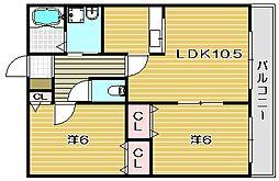 ボナール水尾[2階]の間取り