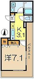エスコートK[3階]の間取り