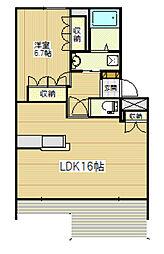 JR飯田線 山吹駅 徒歩24分の賃貸アパート 2階1LDKの間取り
