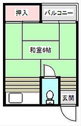 サニークレストI[307号室]の間取り