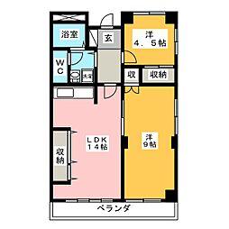 TOKI  NEXT[4階]の間取り