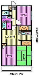 ロイヤルコートムラタ[6階]の間取り