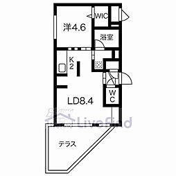 札幌市営東西線 白石駅 徒歩3分の賃貸マンション 1階1LDKの間取り