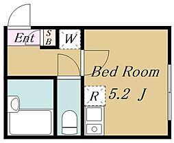 (仮称)目黒区目黒4丁目計画 2階ワンルームの間取り