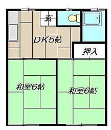 コーポ松永[101号室]の間取り