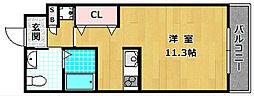 シャンテー御殿山2番館[4階]の間取り
