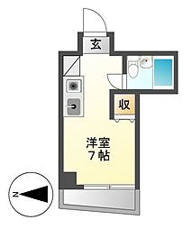 Progress 錦(プログレスニシキ)[7階]の間取り