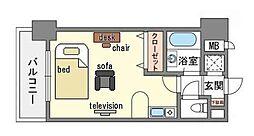 家具・家電付き イトーピア天神東[4階]の間取り