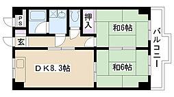 エポックYK[210号室]の間取り
