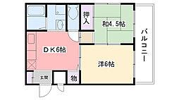 エスポワール上甲子園[3階]の間取り
