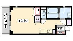 サクシード姫路駅南 3階ワンルームの間取り