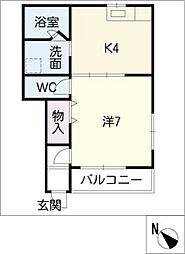 コーポアイマルA3[1階]の間取り
