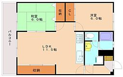 上野ビル[3階]の間取り