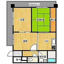 ロワールマンション大濠I[8階]の間取り