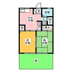 スクールサイドA棟[1階]の間取り