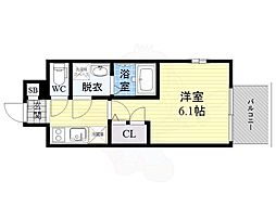 Osaka Metro長堀鶴見緑地線 京橋駅 徒歩11分の賃貸マンション 7階1Kの間取り
