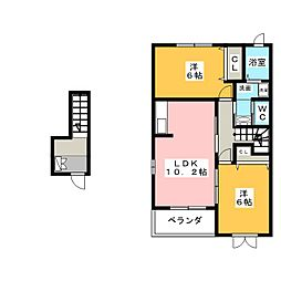 フィオーレC[2階]の間取り