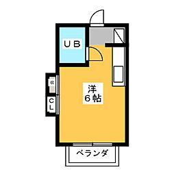 ハイムミユキ[2階]の間取り