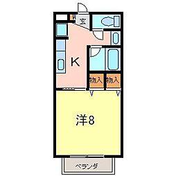 サープラス1モード[105号室]の間取り