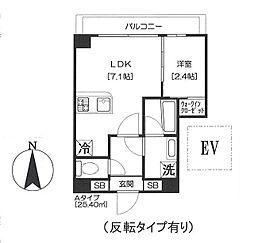 都営浅草線 大門駅 徒歩11分の賃貸マンション 9階1DKの間取り