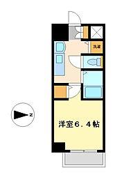 プレサンス名古屋駅前プラチナム[11階]の間取り