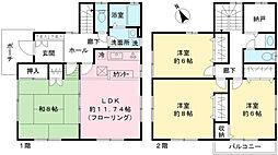 [一戸建] 東京都府中市白糸台2丁目 の賃貸【/】の間取り