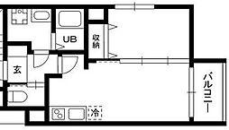 DEAR ECLASS TORITSUDAI 1階1LDKの間取り