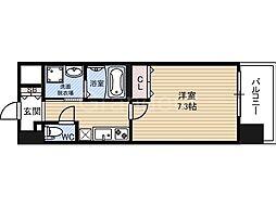 エス・キュート城東中央(Daffitto城東中央)[7階]の間取り