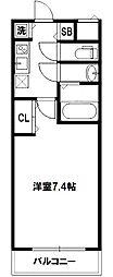W-STYLE新大阪[3階]の間取り