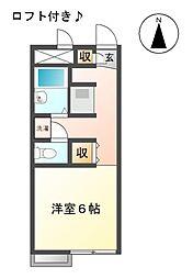 愛知県日進市梅森台2丁目の賃貸アパートの間取り