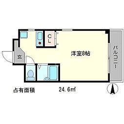 EASTWING[2階]の間取り