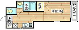 第9摂津グリーンハイツ[3階]の間取り